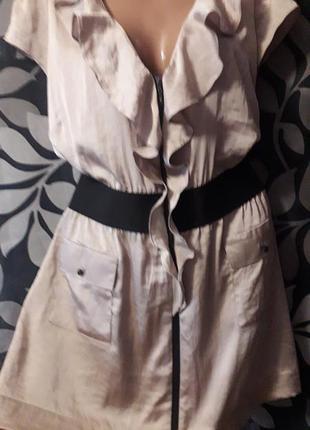 Скидка! стильное платье-туника на молнии