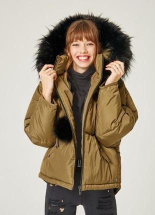 Масивна куртка oversize хакі кольору jennyfer collection  розмір м