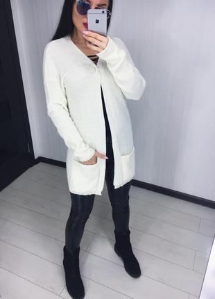 Белый кардиган