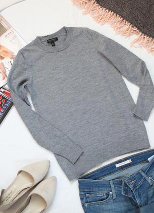 Серый джемпер шерстяной свитер c м размер мерино шерсть banana republic