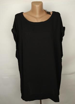 Блуза новая красивая черная большой размер next uk 24/52/5xl