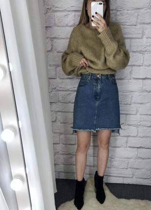 Джинсовая юбка asos, 100% котон