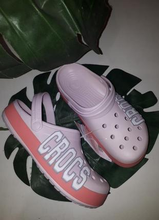 Сабо клоги crocs crocsband logo
