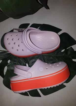 Сабо клоги crocs crocsbsnd platform1 фото
