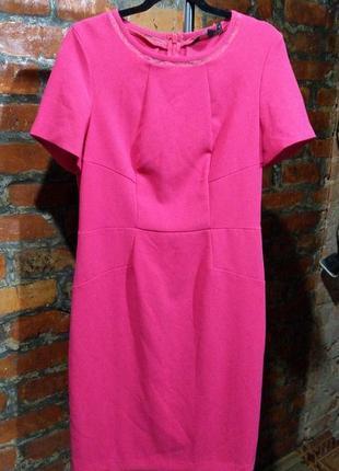 Платье футляр чехол конфетно-розового оттенка из крепа next