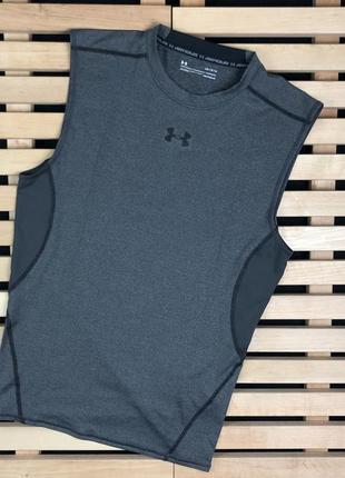 Супер крутая мужская спортивная футболка без рукавов under armour размер м