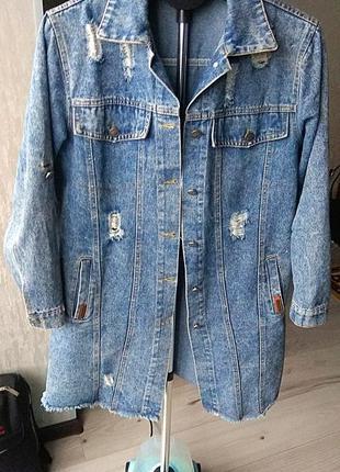 Джинсовый пиджак кардиган