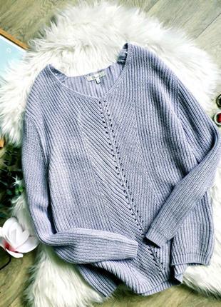 Лавандовый свитерок актуальной вязки peacocks