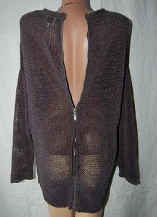 Джемпер, свитер, молния по спинке, кольчуга