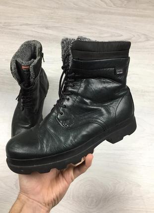 Зимние фирменные кожаные ботинки camper gore-tex timberland!