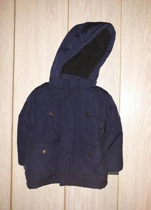 Тёплая курточка primark на 9-12 мес 2018г