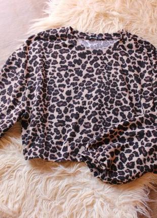 Трендовый леопардовый свитер stradivarius