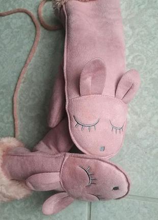 Модные рукавицы, варежки, перчатки для девочки от 3-9 лет