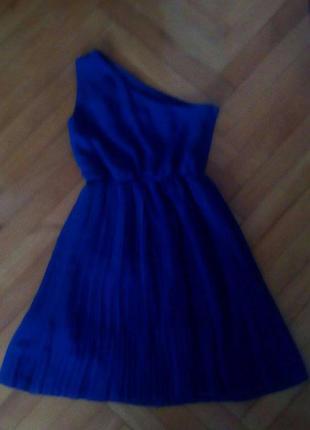 Платье синее h&m