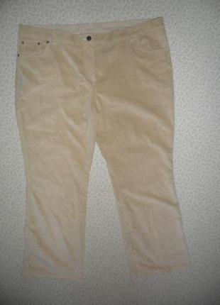 Стильные деми брюки теплый мягкий  джинс-велюр 58-60р стретч до 62р