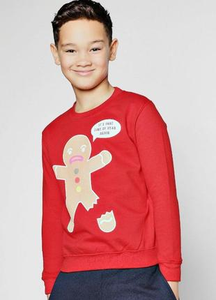 Boohoo. товар из англии. свитшот на флисе. на возраст 9-10 лет на рост: 134-140 см.