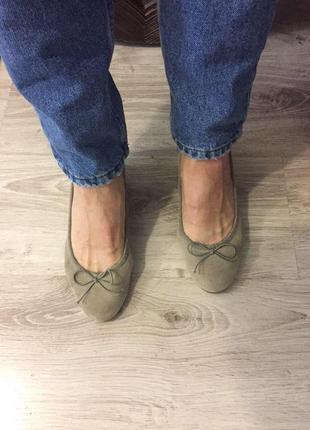 Туфли замшевые плюс кожаные