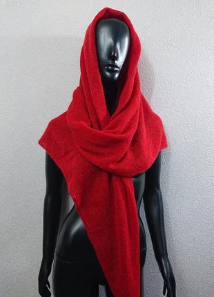 Шаль паутинка вязаный платок шарф мохер
