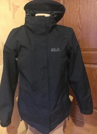 Куртка двойка с флисовой подстежкой jack wolfskin