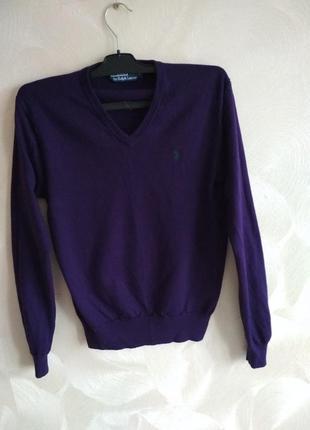 Очень красивый фиолетовый джемпер,пуловер polo by ralph lauren