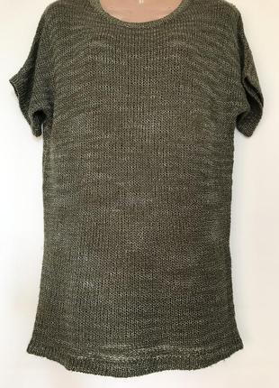 Вязаная футболка с интересной спинкой