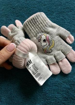 Рукавички перчатки для девочки h&m
