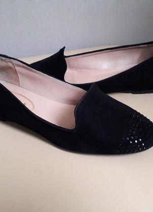 38,5 p. spada milano стильные итальянские замшевые туфли балетки лодочки