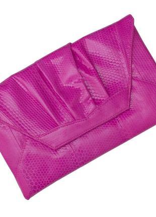 Клатч из кожи морской змеи ekzotic leather розовый (snc 08_5)