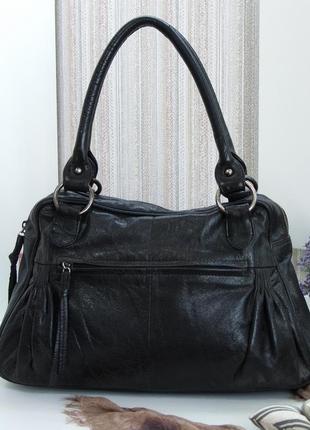Практичная сумка, натуральная кожа