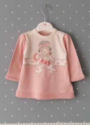 Теплая кофта/пуловер/туника mayoral (испания) на 3-6 месяцев (размер 68)