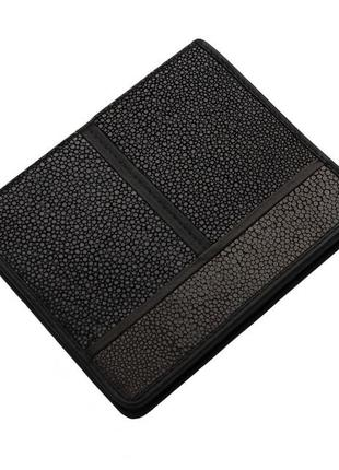 Визитница из кожи ската ekzotic leather серая(stc01)