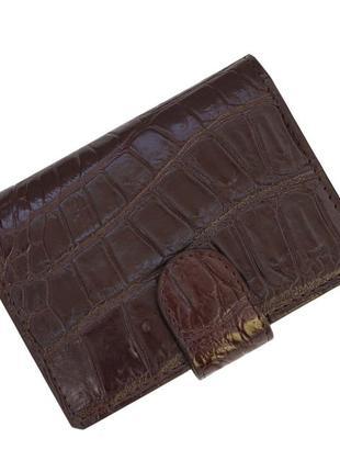 Визитница из кожи крокодила ekzotic leather коричневый (crc03)