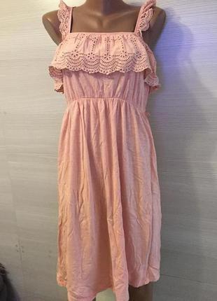 Платье сарафан для беременных на бретелях прошва трикотаж
