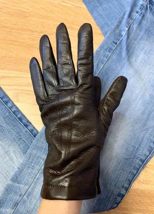 Фирменные кожаные перчатки leather fashion ,перчатки medium