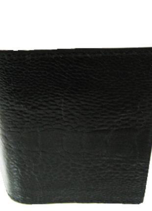 Визитница из кожи страуса ekzotic leather черная (och01)
