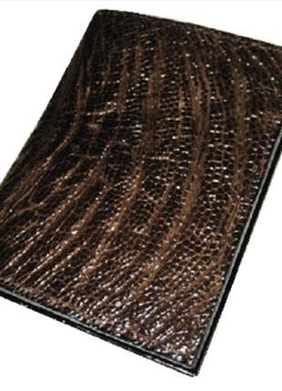 Визитница из кожи страуса ekzotic leather коричневая (och03)