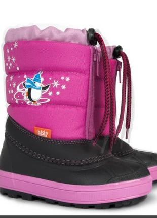 Зимние сноубутсы сапоги ботинки дутики на овчине демар demar kenny. размеры 20-35