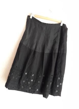 Невероятно красивая юбка ,шелк с шерстью