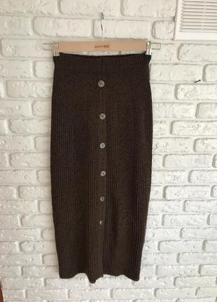 Спідниця міді максі трикотажна букле, юбка длинная твидовая миди