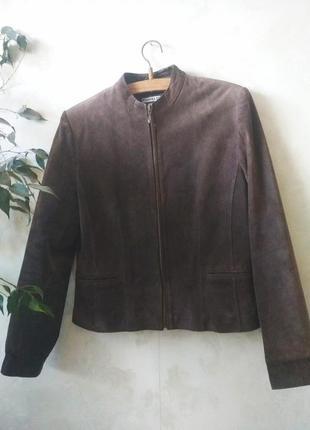 Коричневая кожаная куртка натуральная кожа