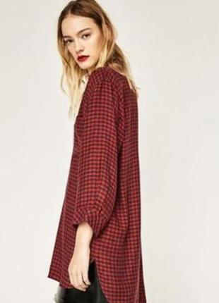 Zara, платье, туника, длинная рубашка
