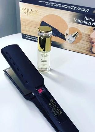 Lux keratin выпрямитель для волос nano-titanium 249 с + термозащитное масло 40 мл