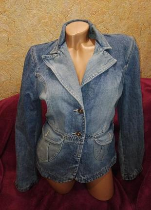 Обалденный джинсовый пиджак-курточка, 42-48р
