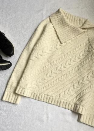 Теплый свитер с косами wallis 18---50-52 размер.