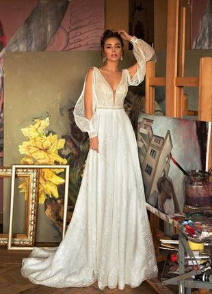 Свадебное платье jasmine empire.новое!