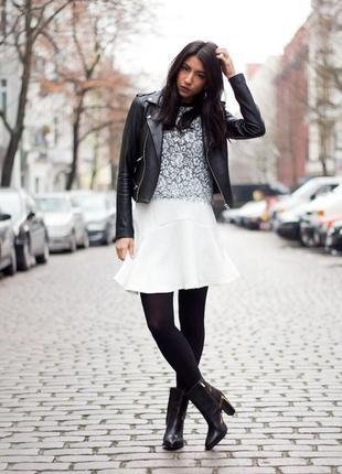 Базовая белая ажурная юбка torothy perkins m-l