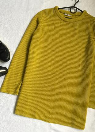 Теплый удлиненный свитер tu 16---52 размер.