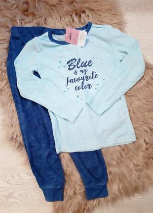 Мягкая тёплая махровая пижама на 6 лет