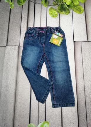 Синие джинсы для девочки пояс на резинке