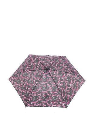 Женский механический зонт ferre milano 597 (черный с бордовым)
